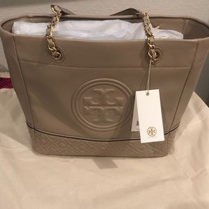 Tory Burch Fleming Tote Taupe